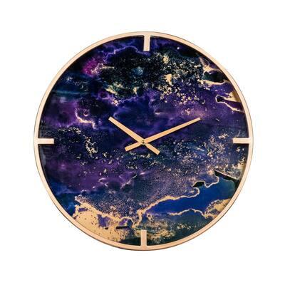 Purple Modern Chic Wall Clock