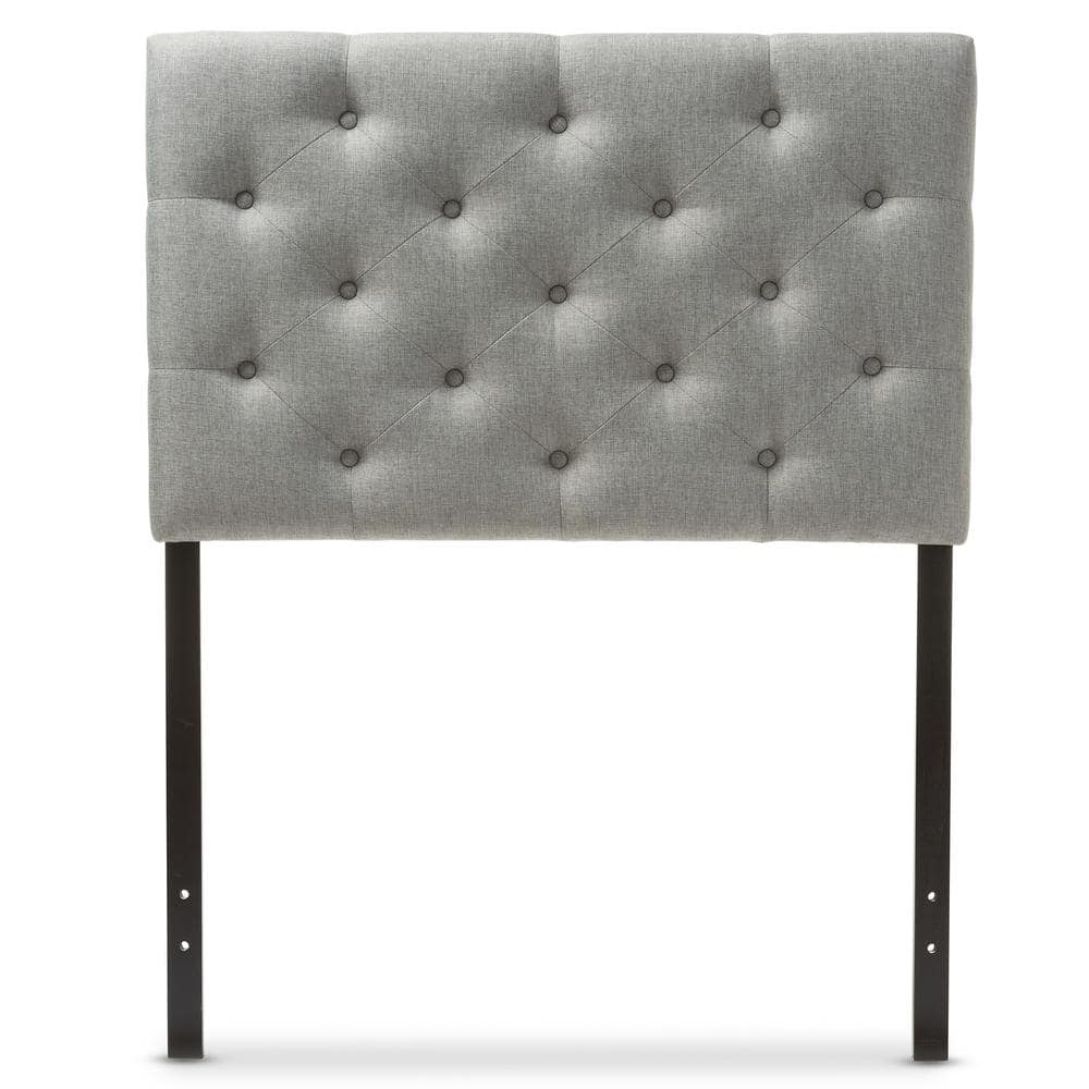 Baxton Studio Viviana Gray Full Headboard 28862 6455 Hd The Home Depot