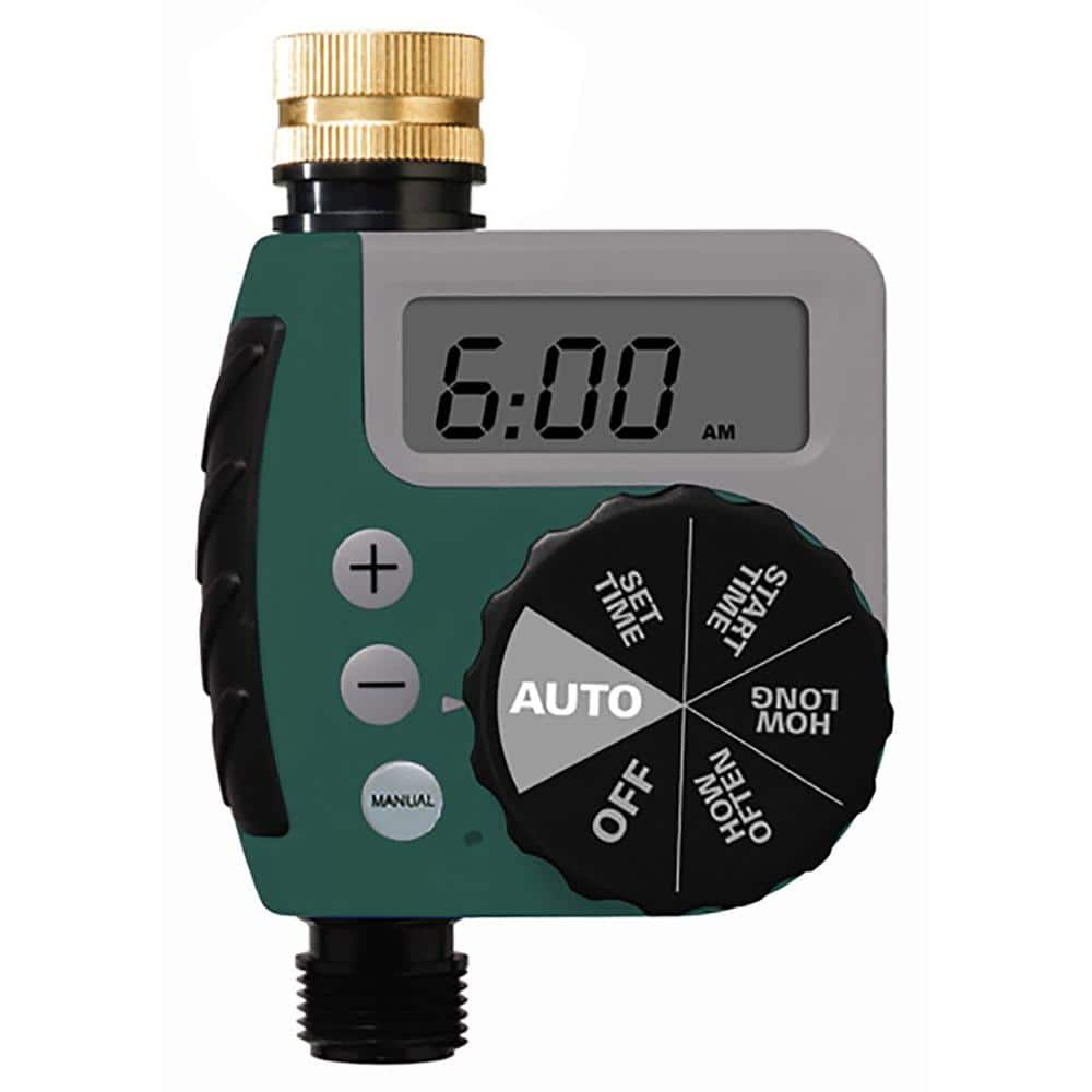 Automatic Electronic Analogue Two Dial Timer Valve Garden Irrigation Controller