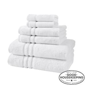 Turkish Cotton Ultra Soft 6-Piece Towel Set in White