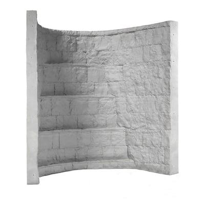 66 in. x 44 in. x 72 in. Grey Composite Window Well
