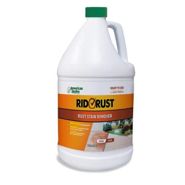 Pro Products 128 Oz Rust Stain Remover Rid O Rust 2662 The Home Depot
