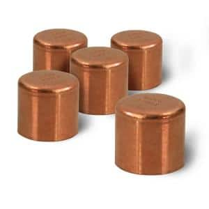 1/2 in. Copper Sweat Plug End Cap Pipe Fitting (5-Pack)
