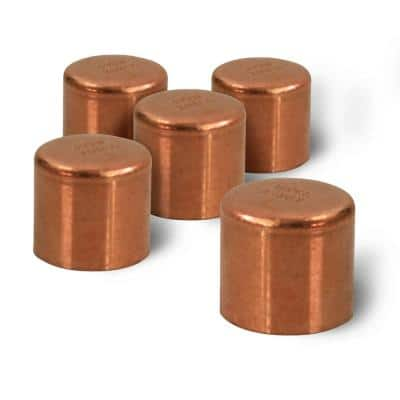 1/4 in. Copper Sweat Plug End Cap Pipe Fitting (5-Pack)