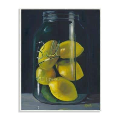 """12 in. x 18 in. """"Lemon Fruit Still Life Painting"""" by Marnie Bourque Wood Wall Art"""