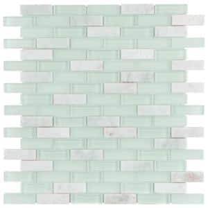 Tessera Subway Ming 10-3/4 in. x 11-3/4 in. Glass and Stone Mosaic (8.97 sq. ft. /Case)