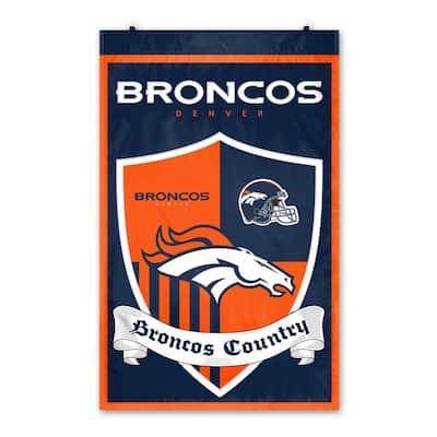 Denver Broncos Shield Crest Wall Tapestry