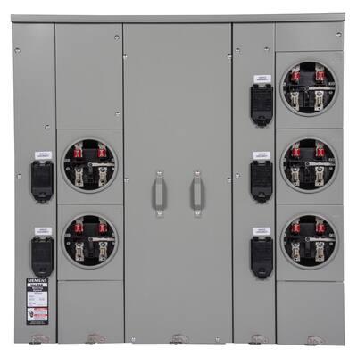 Uni-PAK 5-Gang 400 Amp Ring Style Multi-Family Metering