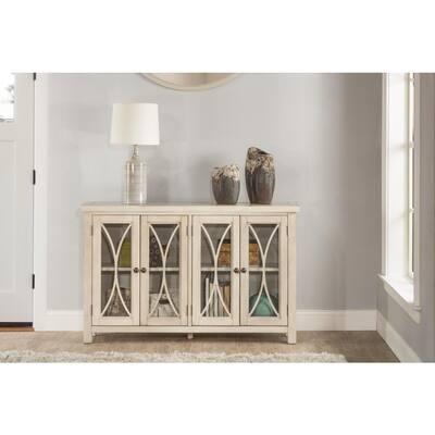 Bayside Antique White 4 Door Cabinet