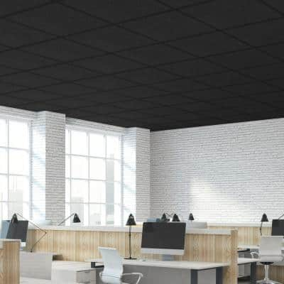 Teknotile Black 2 ft. x 2 ft. Ceiling Tile ( 32 sq.ft. /case)