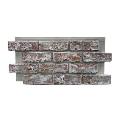 Chicago Brick 22.5 in. x 11.75 in. Brick Veneer Siding Half Panel
