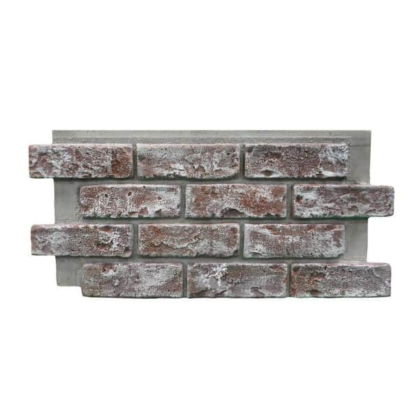 Genstone Chicago Brick 22 5 In X 11 75 In Brick Veneer Siding Half Panel Eacbqp The Home Depot