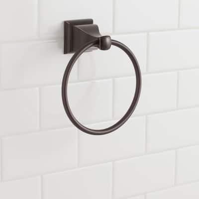 Milner Towel Ring in Bronze