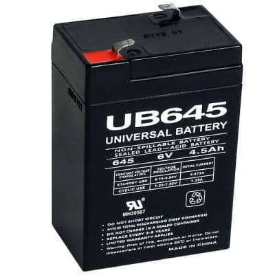 6-Volt 4.5 Ah Sealed Lead Acid (SLA) AGM Rechargeable Battery