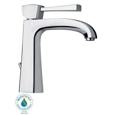 Lady Single Hole Single-Handle Low-Arc Bathroom Faucet in Chrome