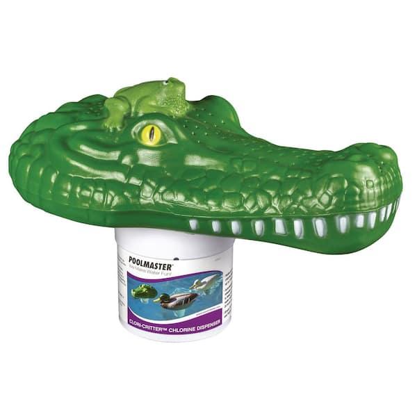 Poolmaster Chlori Critter Alligator Swimming Pool And Spa Chlorine Dispenser 32132 The Home Depot
