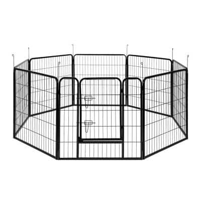 31.5 in. Metal Foldable Wireless Pet Fence Playpen for Dogs (8-Pieces)
