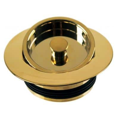 4-1/2 in. Poly Kitchen Sink Disposal and Flange Stopper in Polished Brass