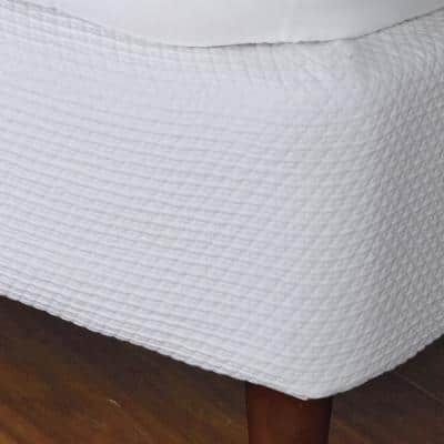 Madelyn Matelasse Cotton Box Spring Cover in White