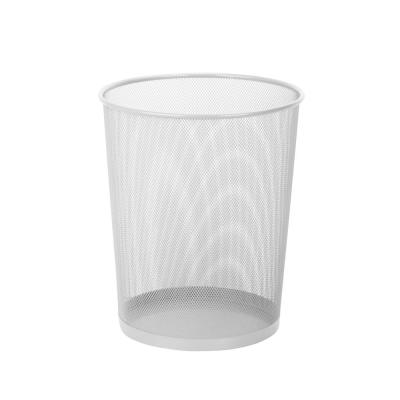 4.75 Gal. Mesh Metal Silver Round Trash Cans (2-Pack)