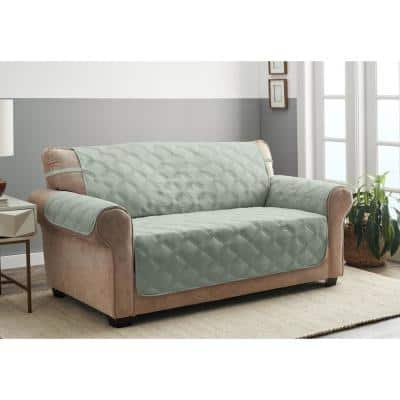 Hampton Celadon 1-Piece Diamond Secure Fit Sofa Furniture Cover