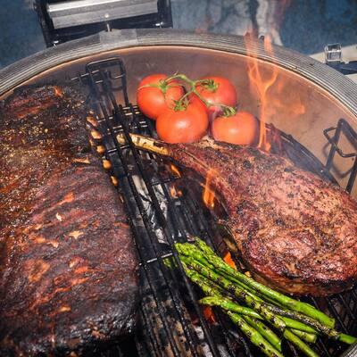 Classic Joe II 18 in. Charcoal Grill in Blaze Red