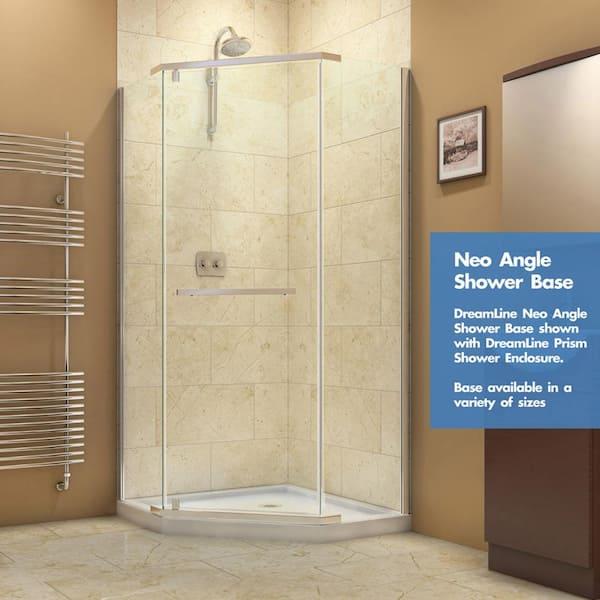 Dreamline Slimline 38 In X 38 In Neo Angle Shower Tray In White Dlt 2038380 The Home Depot