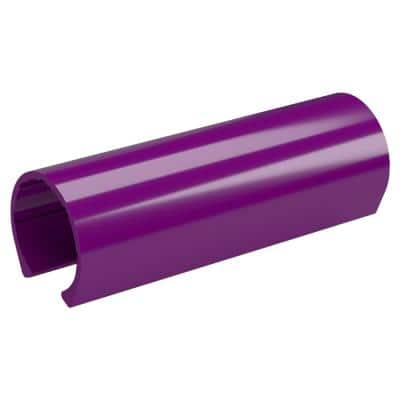 1-1/4 in. x 0.33 ft. Purple PVC Pipe Clamp Material Snap Clamp (10-Pack)