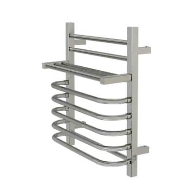 7-Bar Maui Towel Warmer, Hardwired, Polished Stainless Steel