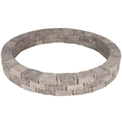 Rumblestone 79.3 in. x 10.5 in. Concrete Tree Ring Kit in Greystone