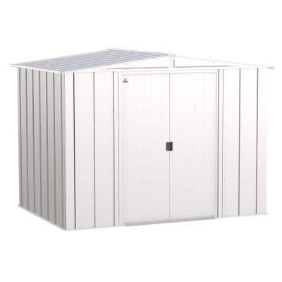 Classic 8 ft. W x 6 ft. D Flute Grey Steel Storage Shed