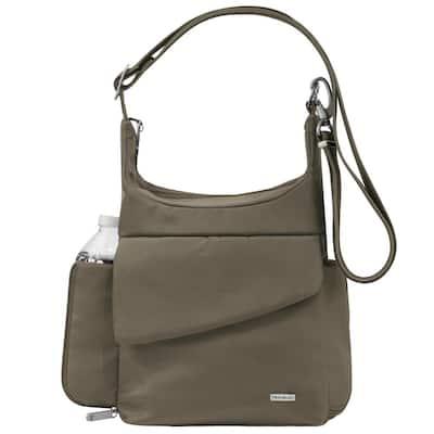Anti-Theft Nutmeg Poly Messenger Bag