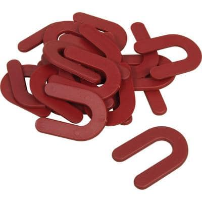 1/8 in. Horseshoe Shim Tile Spacers for Marble, Granite and Stone Floor and Wall Installations (150-Pack)