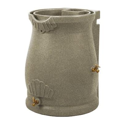 50 Gal. Rain Water Saver Wizard Barrel Urn, Sandstone
