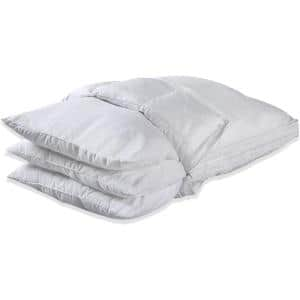 A1HC Wool Quilted Organic Cotton 3-in-1 Adjustable New Zealland Wool King Pillow