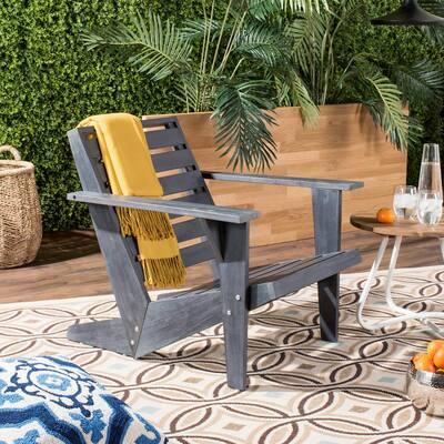 Lanty Dark Slate Grey Wood Adirondack Chair