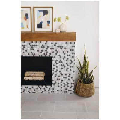 Modern Renewal Gray Blend Hex 10 in. x 12 in. x 6.35 mm Glazed Ceramic Mosaic Floor and Wall Tile (0.81 sq. ft./Each)