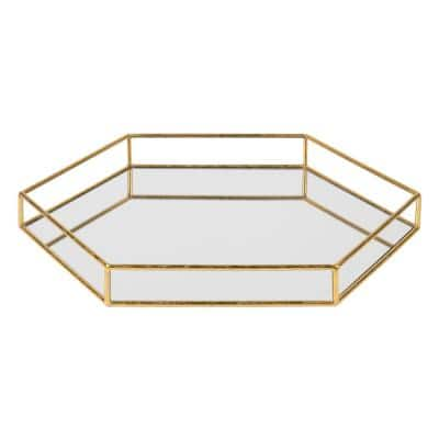 Felicia Gold Decorative Tray