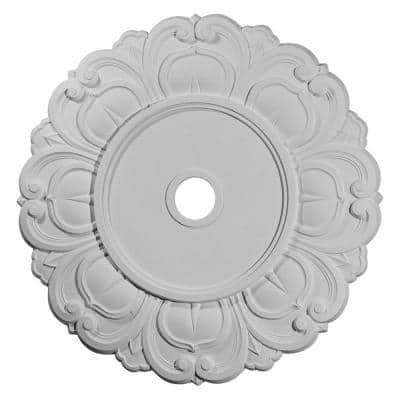 """32-1/4"""" x 3-5/8"""" ID x 1-1/8"""" Angel Urethane Ceiling Medallion (Fits Canopies up to 15-3/4""""), Primed White"""