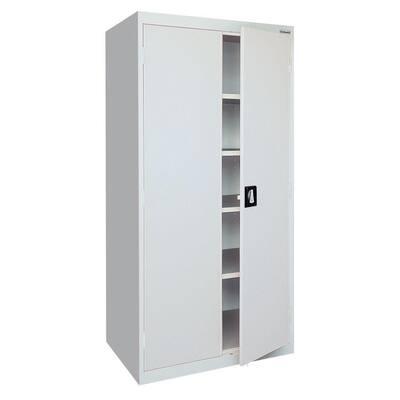 Elite Series Steel Freestanding Garage Cabinet in Dove Gray (36 in. W x 78 in. H x 18 in. D)