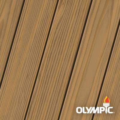 Elite 8 oz. Rustic Cedar Semi-Transparent Exterior Wood Stain and Sealant in One Low VOC