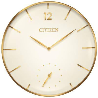 16 in. Gold-Tone Large Oversized Wall Clock with Metal Case