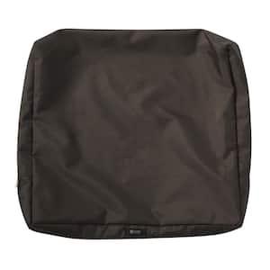 Ravenna 25 in. W x 22 in. H x 4 in. D Patio Back Cushion Slip Cover in Espresso