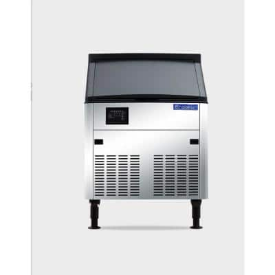 160 lbs. Freestanding or Built-In Ice Maker in Stainless Steel