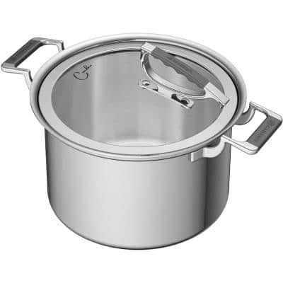 8 qt. Stainless Steel Stock Pot with Glass Lid