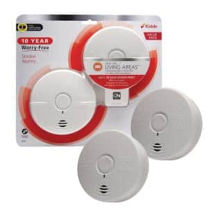 10 Year Worry-Free Smoke Detector, Lithium Battery Powered, Fire Alarm, 2-Pack