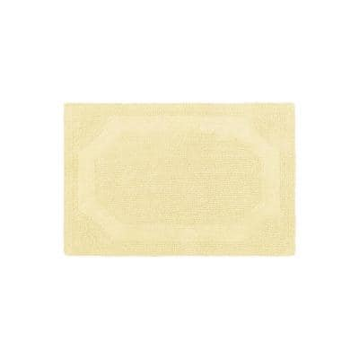 Solid Reversible Yellow 17 in. x 24 in. Bath Mat