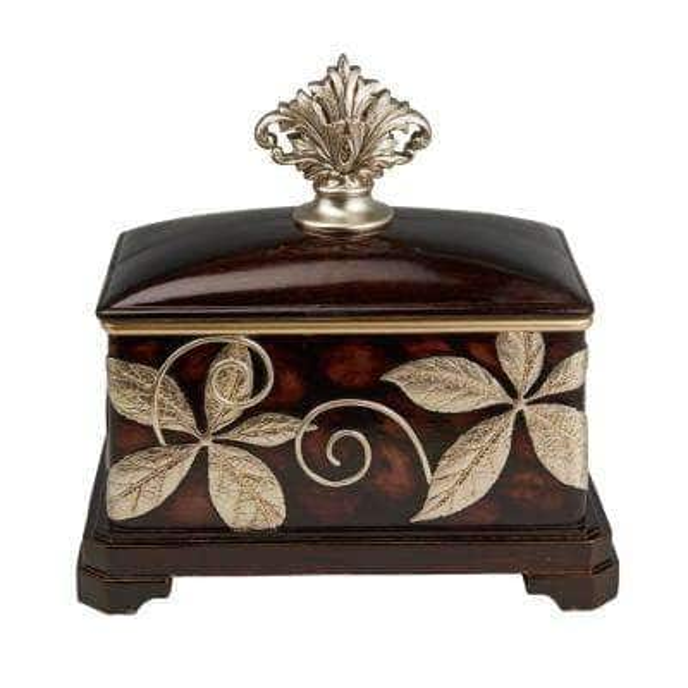 11.5 in. Folius Floral Foliage Jewelry Box