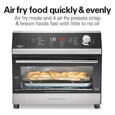 1800 W 6-Slice Black Digital Air Fry Toaster Oven