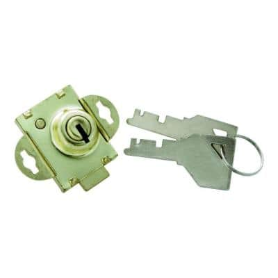 1/4 in. Polished Brass Bolt Mailbox Lock